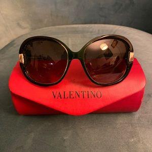 Valentino dark green sunglasses